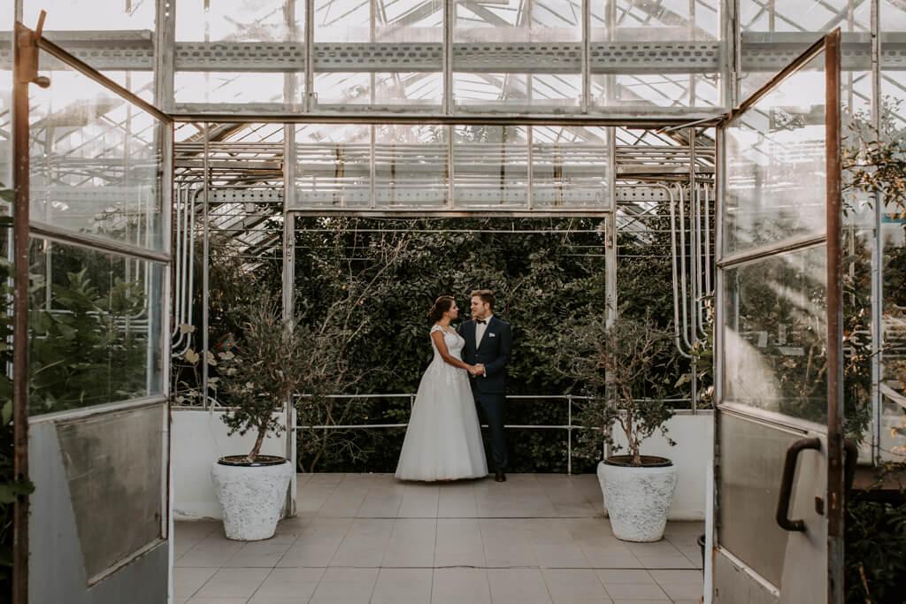 Sesja ślubna w szklarni w Powsinie (2)